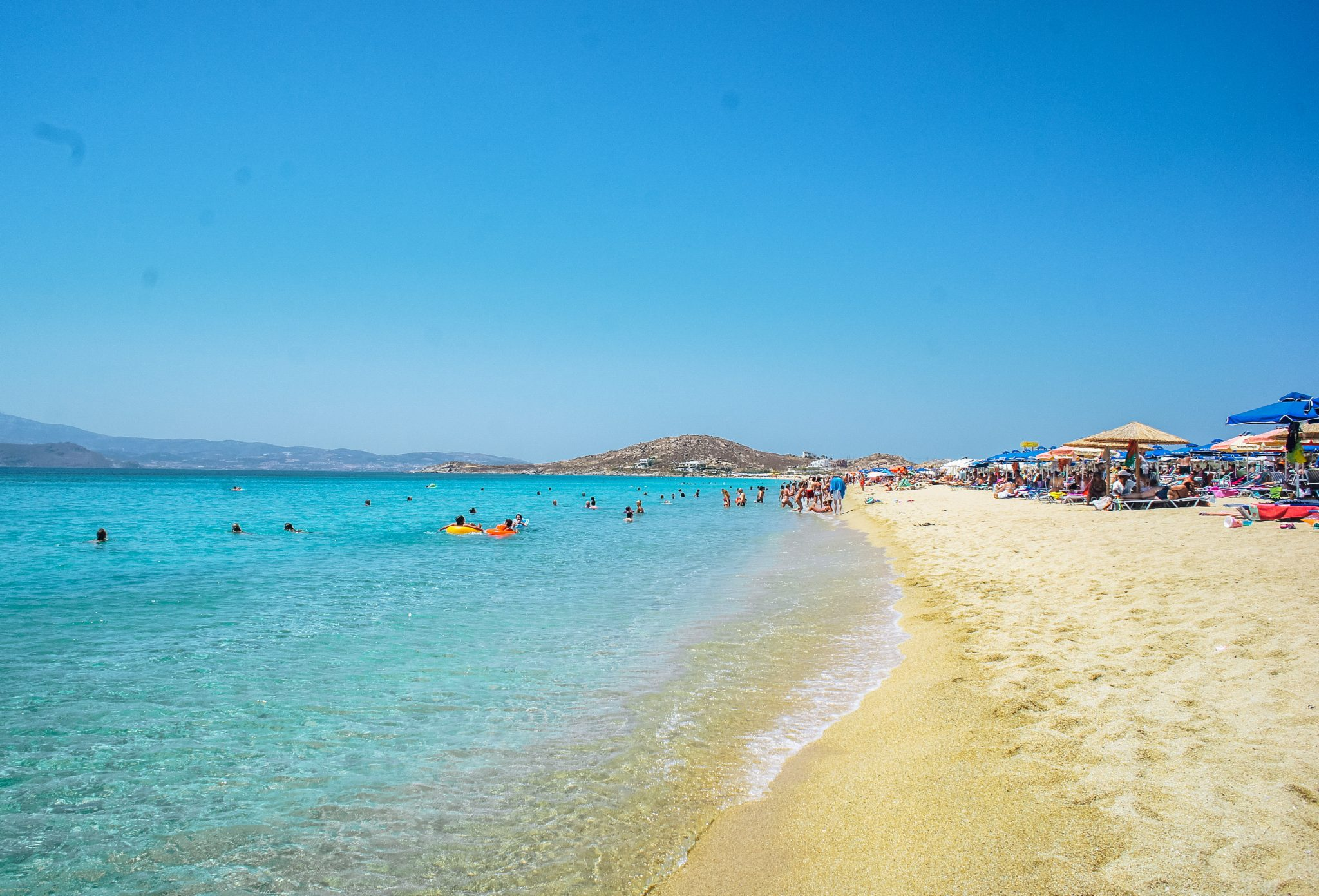 agios prokopios beach in naxos, greece