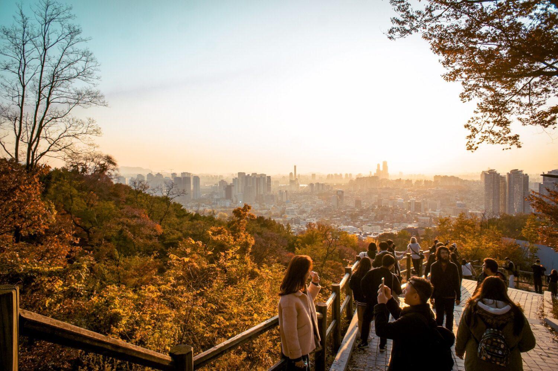 namsan during autumn in seoul
