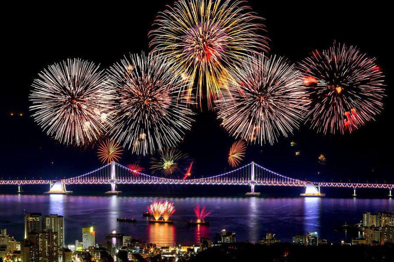 fireworks korea new year in seoul